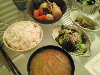 夕食(^_-)